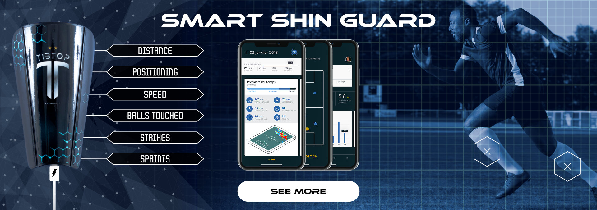Switch to SMART SHIN PADS to measure your performance